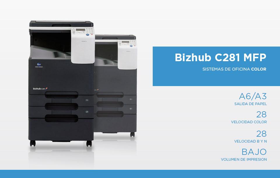Bizhub c281 mfp